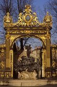 Neptune fountain, place stanislas, nancy, meurthe-et-moselle, lorraine, franc Stock Photos