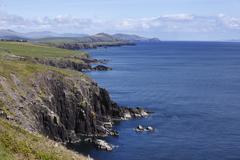 cliffs at slea head, dingle peninsula, county kerry, ireland, british isles,  - stock photo