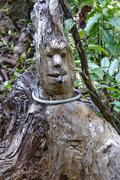 Carved reggae figure in the jungle, chiang mai, thailand, asia Stock Photos