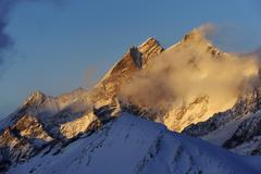 Stock Photo of taeschhorn and dom mountains, zermatt, valais, switzerland, europe