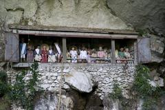 Stock Photo of gallery of ancestors and burial place of the toraja in londa, near rantepao,