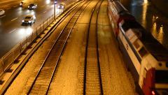 Train - , Tel Aviv, Israel, real time 3 Stock Footage