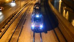 Train - , Tel Aviv, Israel, real time 2 Stock Footage