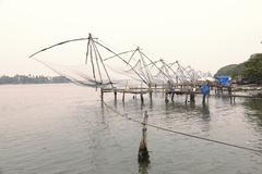 Chinese fishing nets, kochi, fort cochin, kerala, south india, south asia Kuvituskuvat