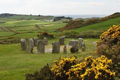 Drombeg stone circle, megalithic culture, glandore, republic of ireland, brit Stock Photos