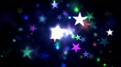 Colorful Shining Stars Stock Footage