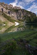 lago federa lake, alto adige, italy, europe - stock photo