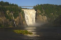 Natural spectacle montmorency falls, beauport, quebec, canada Stock Photos