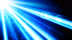 Cool Light Rays and Shapes Stock Footage