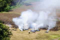 Farm work, slash and burn, mae salong, thailand, asia Kuvituskuvat