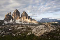 Three peaks, alto adige, italy, europe Stock Photos