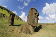 Moais, easter island, chile, south america Stock Photos