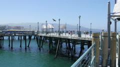 Redondo Beach Pier Boardwalk Stock Footage