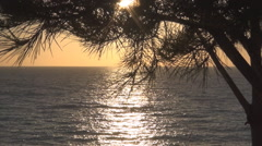 Greece, Mediterranean Sunset. Hot summer day on the seashore. Ionian Islands. Stock Footage
