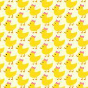 Duck pattern background Stock Illustration