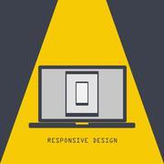 responsive design. technology laptop tablet smartphone - stock illustration
