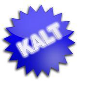 "Stock Illustration of writing ""kalt"", cold"