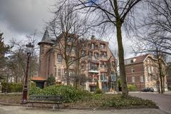 affluent, rich district, vondelpark, amsterdam, the netherlands, europe - stock photo