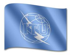 flag of the international telecommunication union, itu - stock illustration
