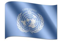 Flag of the world meteorological organization, wmo Piirros
