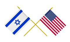 Stock Illustration of flags, usa and israel