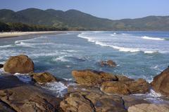Lopes Mendes beach Angra dos Reis Ilha Grande State of Rio de Janeiro Brazil Stock Photos