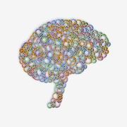 Brain synapses abstract illustration Stock Illustration