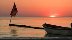 Sunset on Hiddensee Island - Baltic Sea, Northern Germany Stock Footage