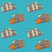 architectural pattern seamless - stock illustration