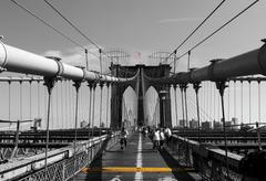 Brooklyn Bridge Manhattan Down Town New York City New York United States North Kuvituskuvat