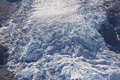 Icefall of Berg Glacier Mount Robson Provincial Park British Columbia Province Stock Photos