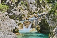Stock Photo of Tolmin Gorge Emerald Route Nationalpark Triglav Region Primorska Slowenien
