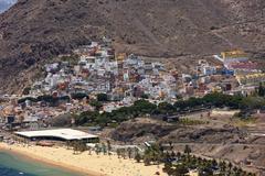 Village of San Andres with the Playa de las Teresitas beach San Andres La Stock Photos