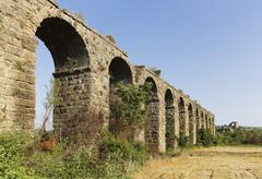 Aqueduct ancient city of Aspendos Pamphylia Antalya Province Turkey Asia Stock Photos