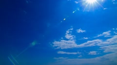 Cloudy and Blue Sky Stock Footage