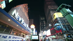 Times Square Police Subway Entrance New York City NYC USA Slow Motion People - stock footage