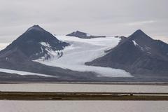 Archibald Geikiebreen Poolepynten Prins Karls Forland Svalbard Archipelago - stock photo