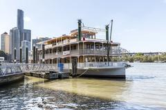 he Kookaburra River Queen Paddlewheeler - stock photo