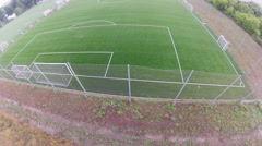 Aerial view on soccer stadium Stock Footage