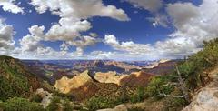 View of the Grand Canyon viewing point Mather Point South Rim Grand Canyon at - stock photo