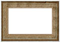 photo frame - old wood - stock photo