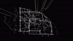 Abstract architecture background Stock Footage