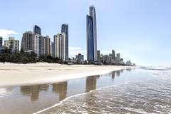 Stock Photo of Surfers Paradise  cityscape with Soul building and famous beach