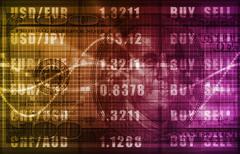 Stock market analysis Stock Illustration