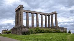 Edinburgh Calton Hill - The National Monument - stock photo
