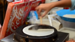 Cooking Thai Dessert: japanese crepe Stock Footage