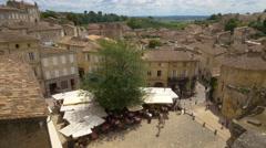 Place de L'eglise Monolithe - Saint Emilion France - HD 4k+ - stock footage