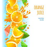 Orange juice border - stock illustration
