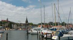Skyline of Flensburg, Schleswig-Holstein, Germany - stock footage