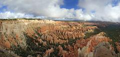 View from Bryce Point Lookout over Bryce Amphitheater landscape formed by Stock Photos